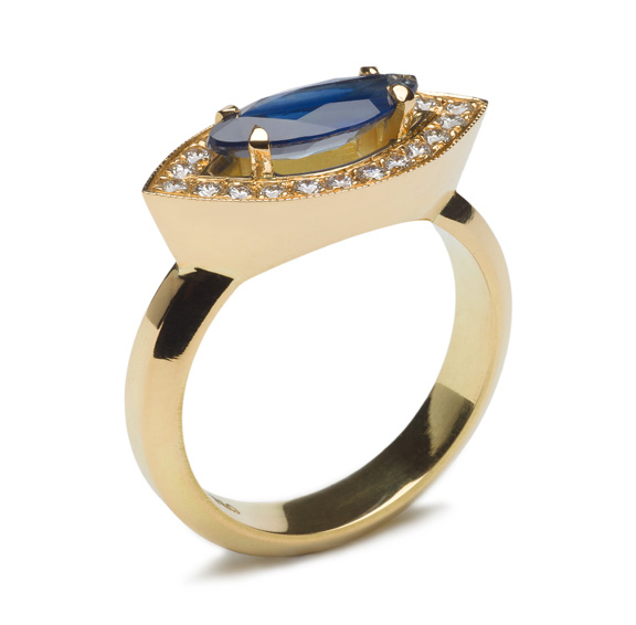 Sapphire and Diamond Ring by Eimear Conyard